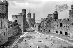 Caernarfon, The Castle Interior 1921