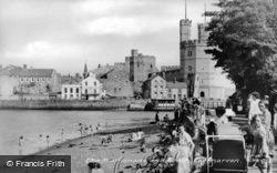 The Promenade And Beach c.1955, Caernarfon