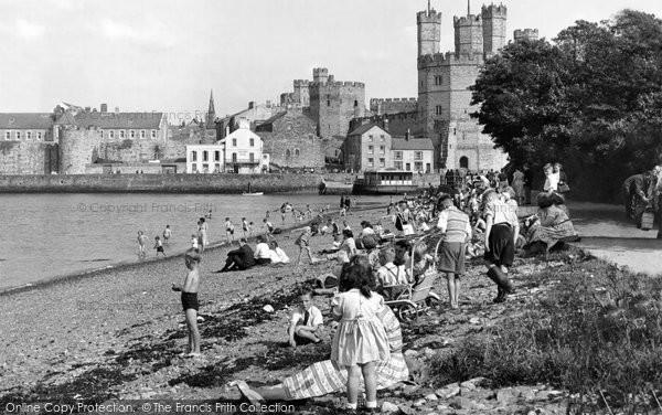 Photo of Caernarfon, The Promenade c.1955