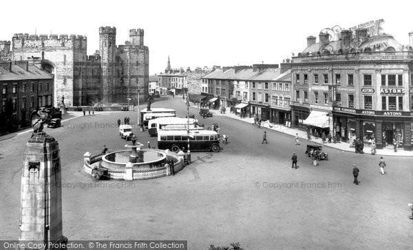 Photo of Caernarfon, The Square 1933