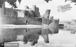 Caerphilly, Castle, The Leaning Tower c.1960