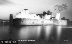 Caerphilly, The Castle By Night c.1965