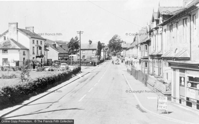 Photo of Caersws, Bridge Street c.1955