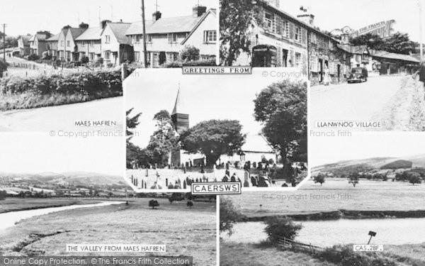 Photo of Caersws, Composite c.1955