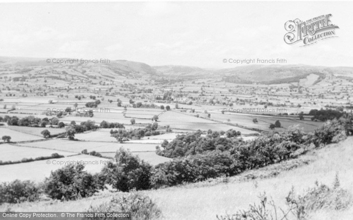 Photo of Caersws, From Llandinam Hills c.1960
