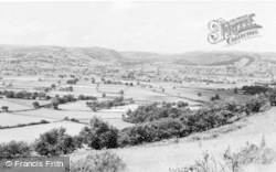 Caersws, From Llandinam Hills c.1960