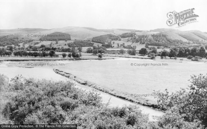 Photo of Caersws, The River c.1955