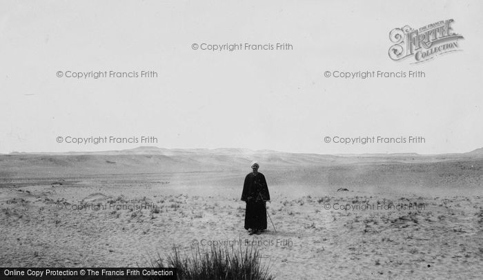 Photo of Cairo, A Man In The Desert c.1935