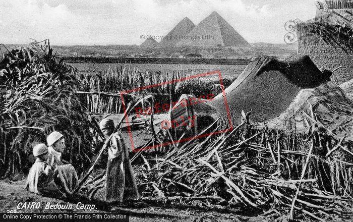 Photo of Cairo, Bedouin Camp And Pyramids c.1930