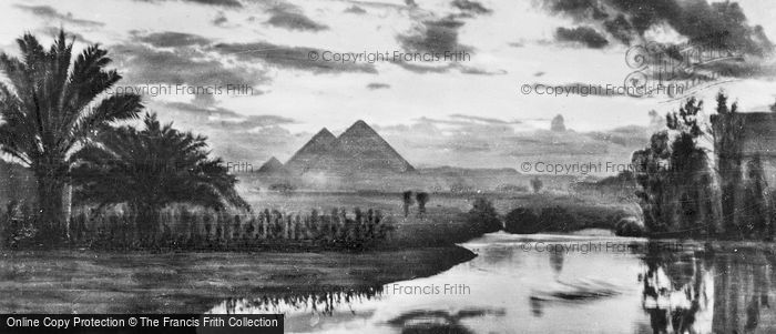 Photo of Cairo, Giza At Twilight c.1930