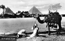 Morning Prayers By The Nile At Giza c.1935, Cairo
