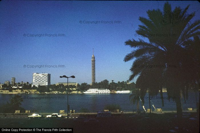 Photo of Cairo, Nile And Cairo Tower 1982