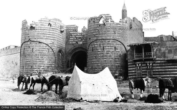 Photo of Cairo, The Bab El Azab, Citadel Gateway 1858