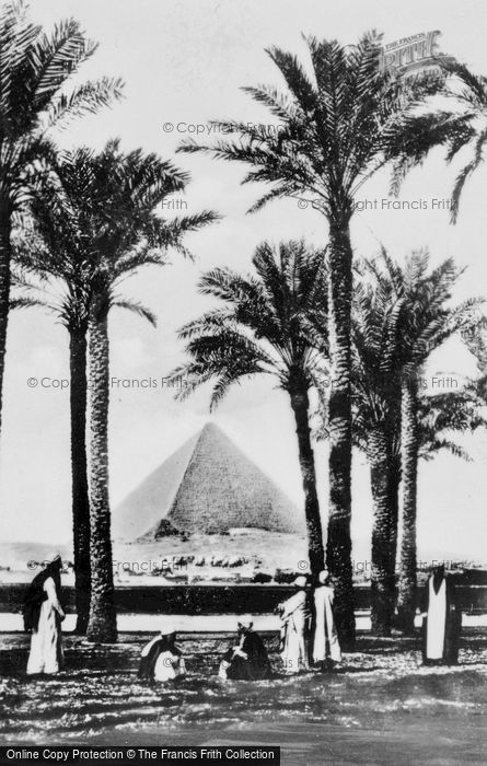 Photo of Cairo, The Cheops Pyramid From The Nile c.1935