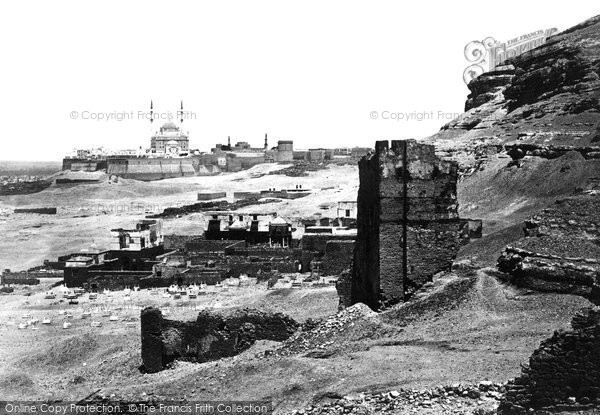 Photo of Cairo, The Citadel And Mosque Of Mohammed Ali 1859