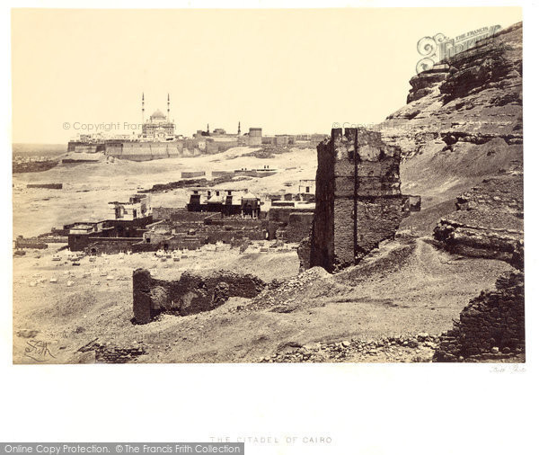 Photo of Cairo, The Citadel And Mosque Of Muhammed Ali 1859