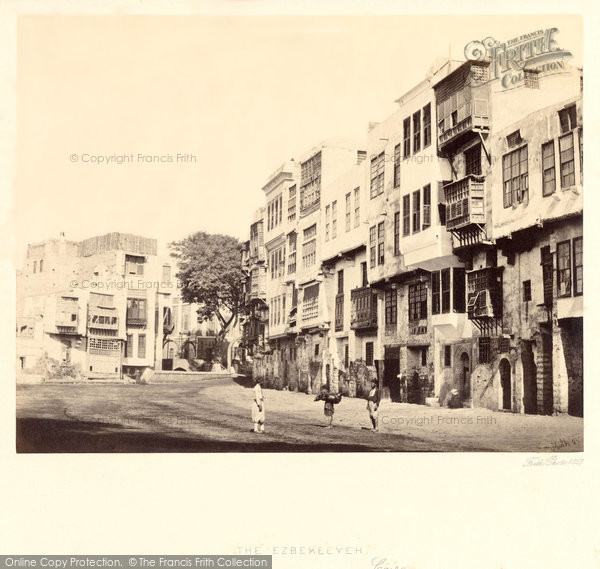 Photo of Cairo, The Ezbekeeyeh 1858