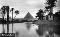 The Pyramids And River Nile c.1935, Cairo