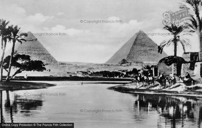 Photo of Cairo, The Pyramids Of King Cheops And King Chephren c.1935