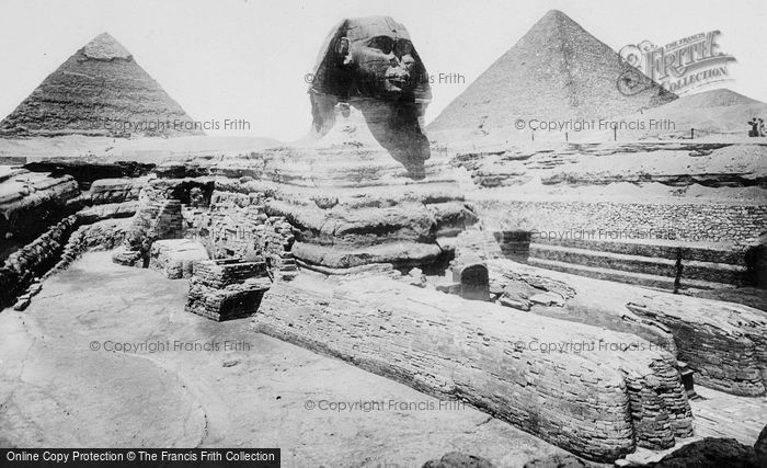 Photo of Cairo, The Sphinx And Pyramids At Giza c.1935