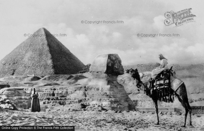 Photo of Cairo, The Sphinx And Tomb Of King Cheops c.1935