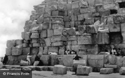 The Steps Of The Cheops Pyramid c.1930, Cairo