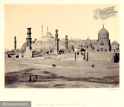 Cairo, Tombs In The Southern Cemetery 1858