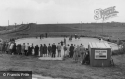 Caister-on-Sea, Holiday Camp Roller Skating Rink c.1955