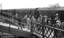 Caister-on-Sea, Holiday Camp Special Arrives At The Railway Station c.1955