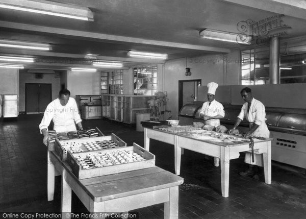 Caister-on-Sea, The Holiday Camp, The Kitchen c.1960