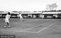 Caister-on-Sea, The Holiday Camp, The Tennis Court c.1955