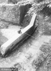 Caldbeck, Fishing In The Beck c.1955