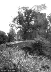 Caldbeck, The Church And River c.1955