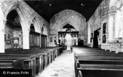 Caldicot, St Mary's Church Interior c.1960