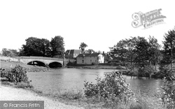 Callander, The River Teith And Bridge c.1960