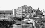 Calne, the River Marden and the Harris Bacon Factory c1955
