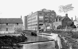 Calne, The River Marden And The Harris Bacon Factory c.1955