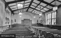 Cliff College, The Chapel Interior c.1950, Calver