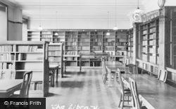Cliff College, The Library c.1960, Calver