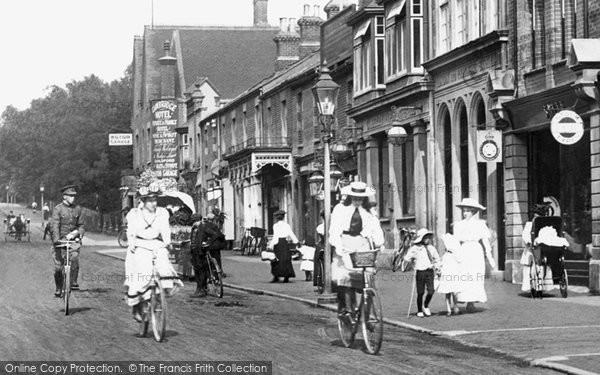 Photo of Camberley, Cyclists, London Road 1909
