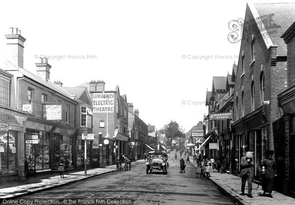 Camberley, High Street, 1919. Reproduced courtesy of The Francis Frith Collection