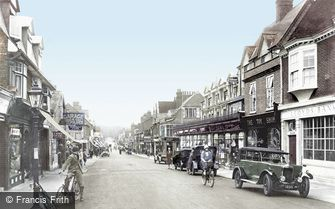 Camberley, High Street 1925