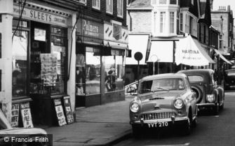 Camberley, High Street Newsagents 1956