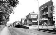 Camberley, London Road and Odeon Cinema c1955