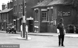 Camberley, Policeman In Frimley Road 1931