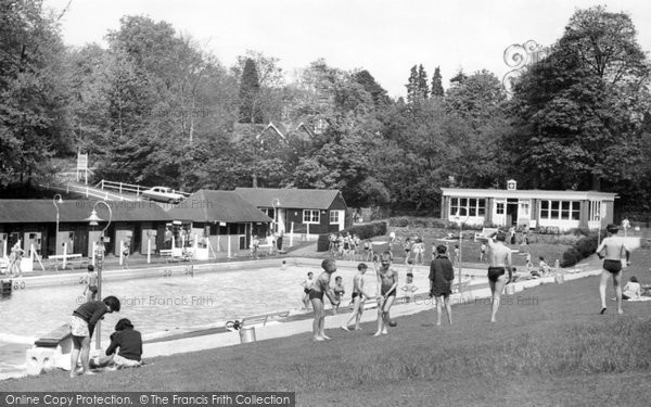 Photo of Camberley, The Blue Pool c.1960