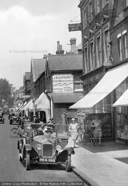 Photo Of Camberley Wolseley Motor Car High Street 1927