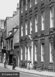 Bicycles By Fitzwilliam House c.1960, Cambridge