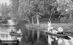 Boating On The Granta 1914, Cambridge