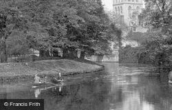 Boating On The River Cam 1890, Cambridge